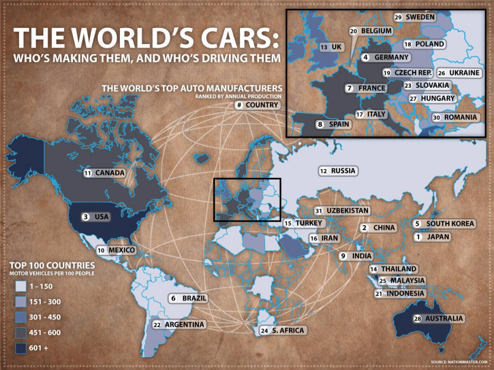 The World's Top Auto Manufacturers Infographic