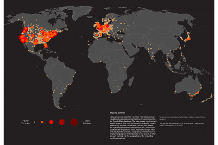 The Zombie Map of the World Infographic