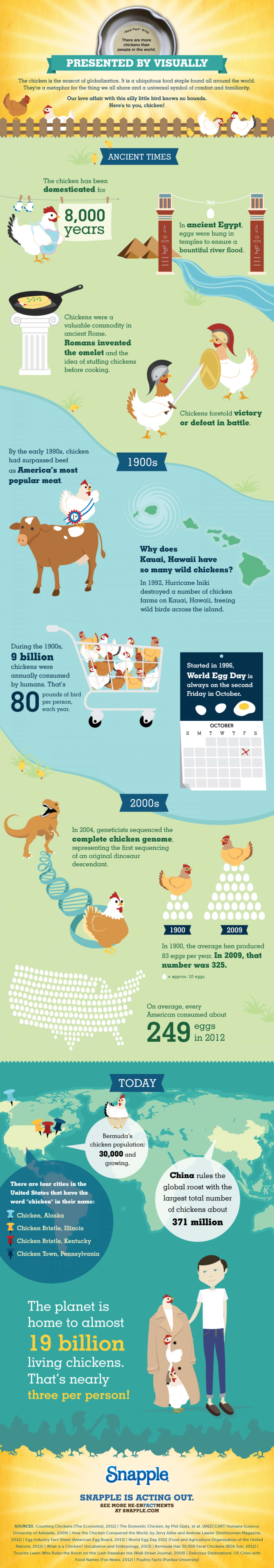 There Are More Chickens Than People in the World Infographic