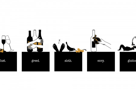 the seven sins (wine themed) Infographic