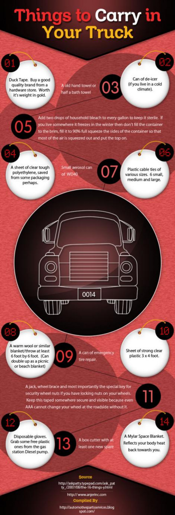 Things To Carry In Your Truck Infographic