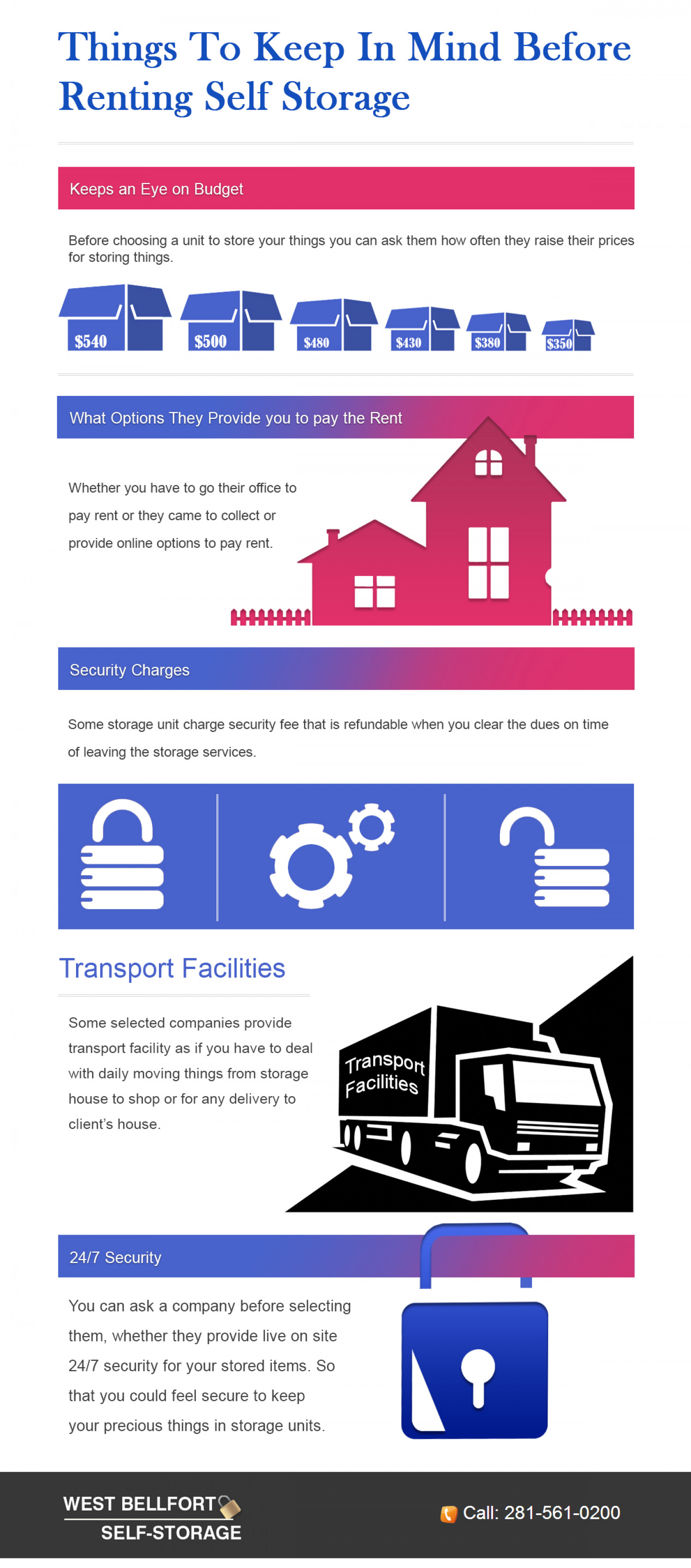 Things to Keep in Mind Before Renting a Self Storage Infographic