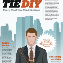 Tie DIY Infographic
