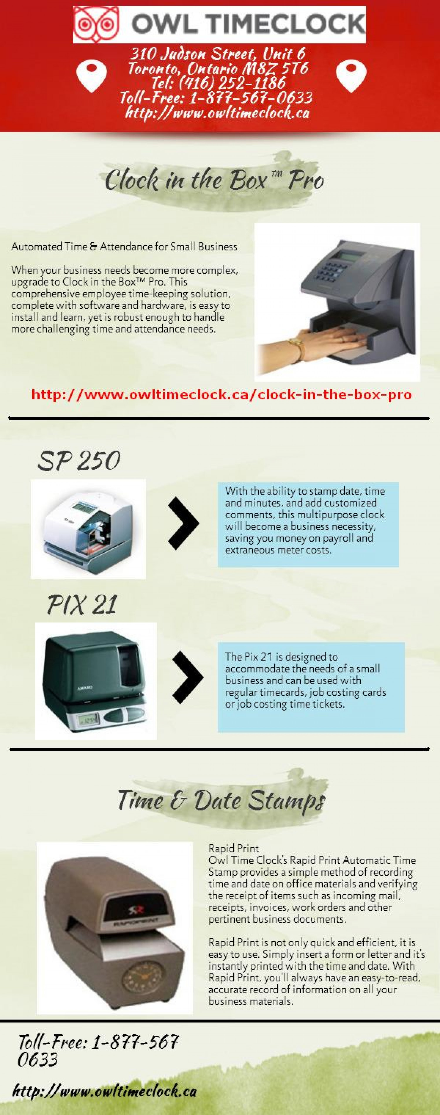Time and Attendance Software Infographic