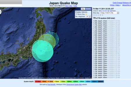 Time Lapse Visualization of the Earthquake in Japan Infographic