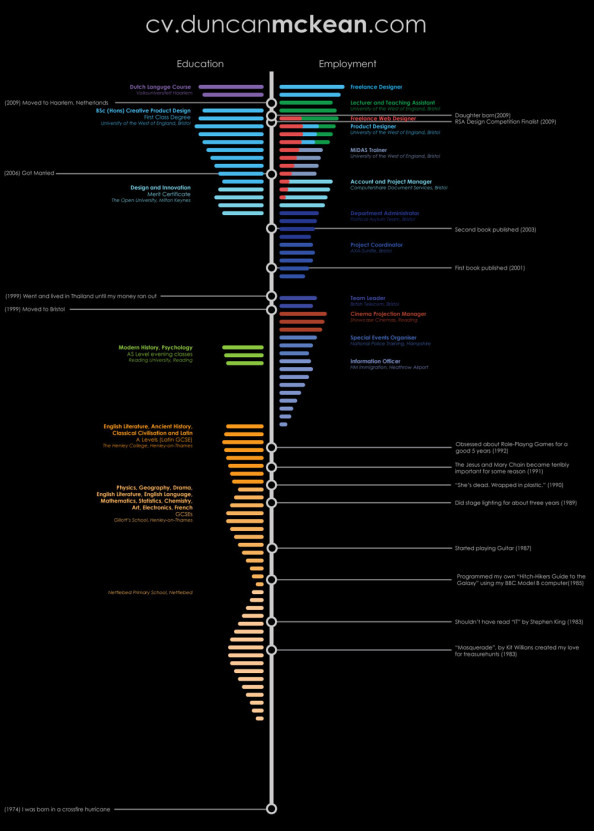 Timeline Resume Infographic