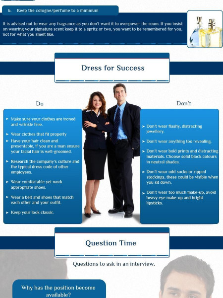 Tricks and Tips for The Perfect Interview Infographic