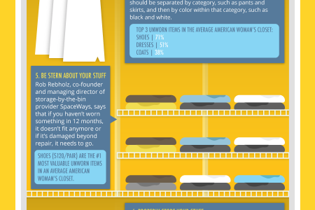 Tips And Tricks To Make Your Closet Pretty Infographic