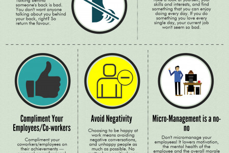 Tips for a Happier Workplace Infographic