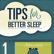 Tips for Better Sleep Infographic