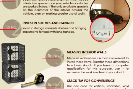 Tips for Keeping  Your Garage Organized Infographic