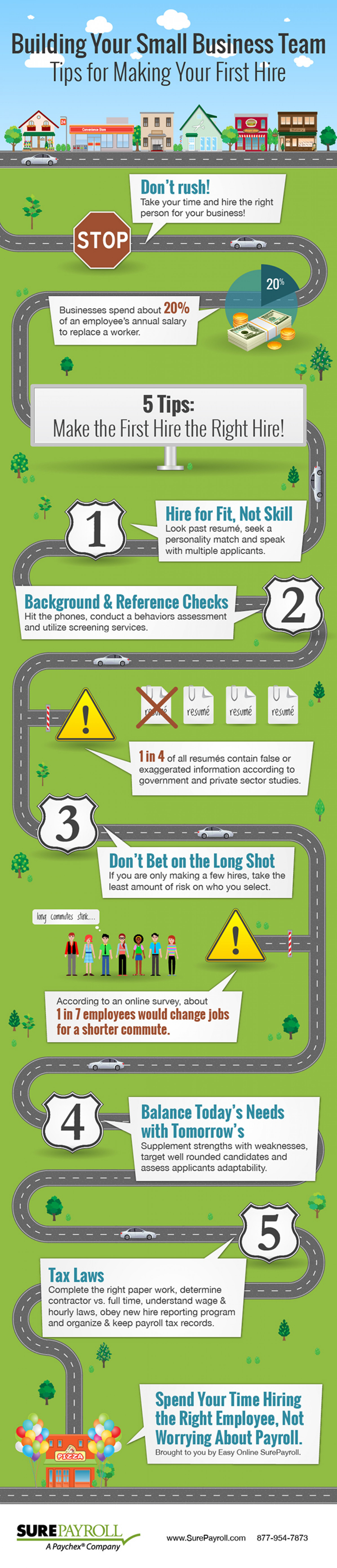 Tips for Making Your First Hire Infographic