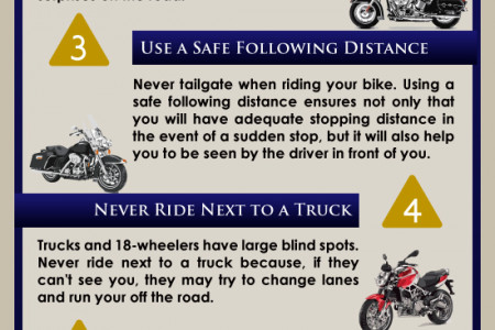 Tips for Motorcycle Safety Infographic