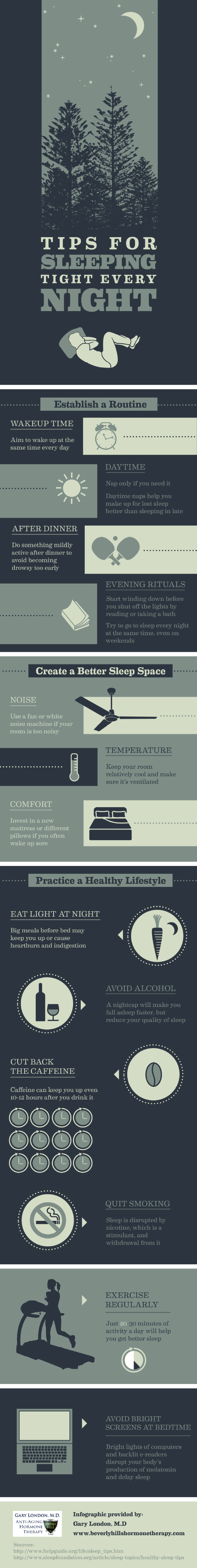 Tips for Sleeping Tight Every Night [Infographic]