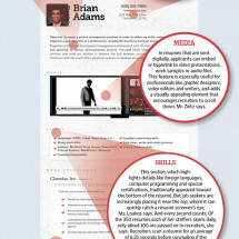 Tips for Writing a Resume in an Online World Infographic