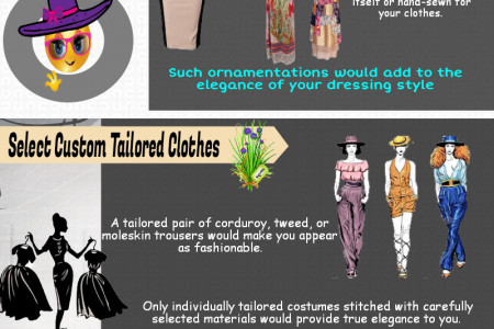 Tips on Elegant Dressing and Observing Clothing Etiquette Infographic