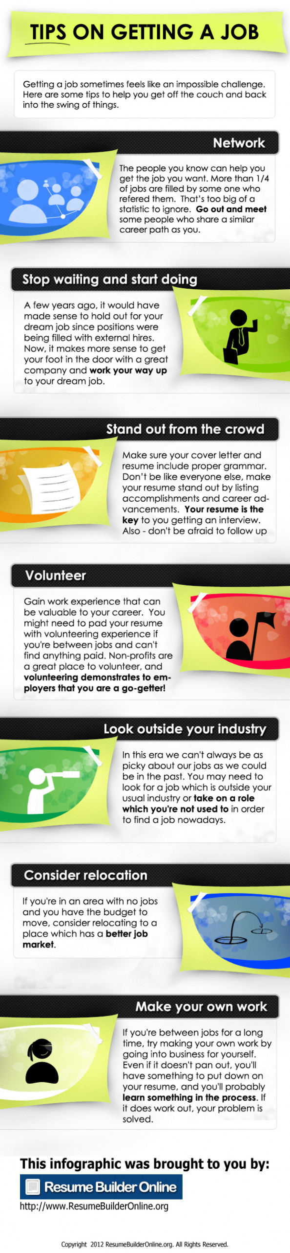 Tips On Getting A Job Infographic