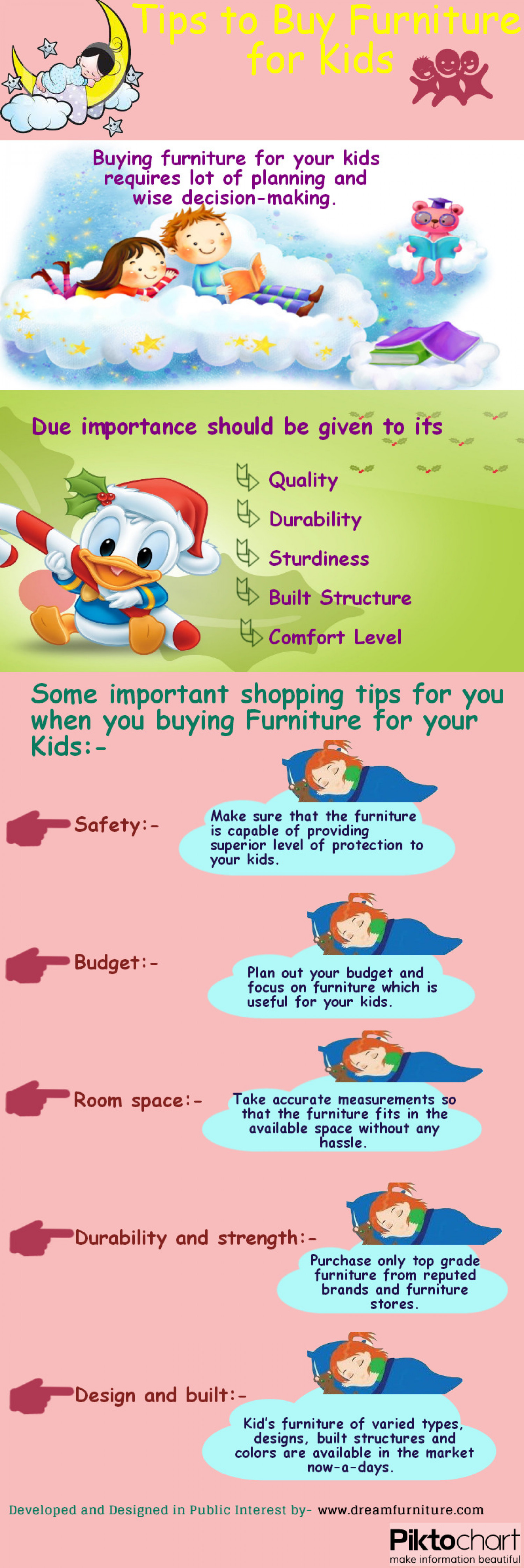 Tips to buy Furniture for your Kids Infographic