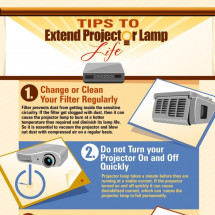 Tips to extend projector lamp life Infographic