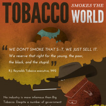 Tobacco Smokes the World Infographic