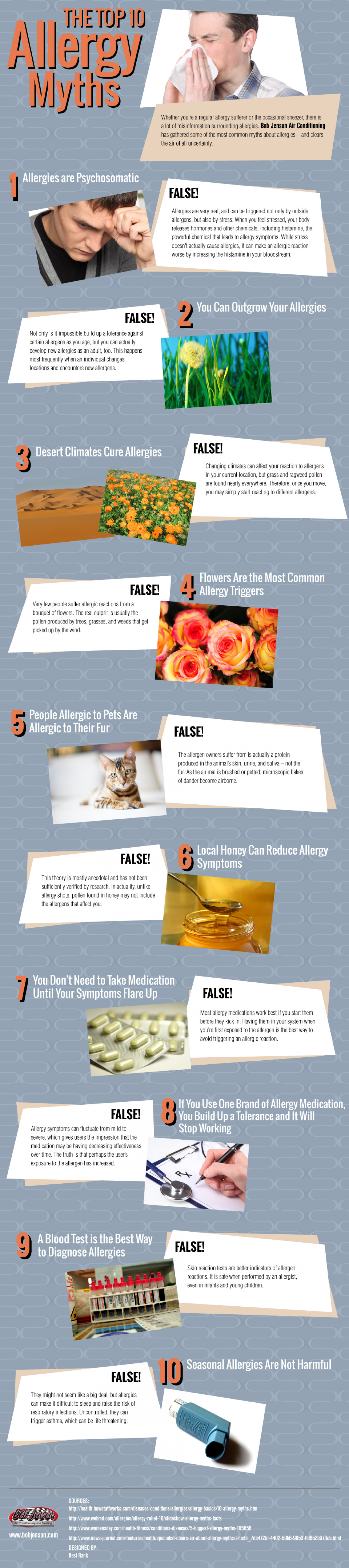 Top 10 Allergy Myths Busted! Infographic
