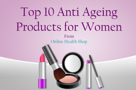 Top 10 Anti Ageing Products for Women's At Online Health Shop Infographic