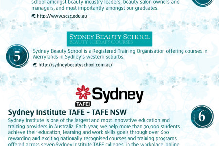 Top 10 Beauty Schools in Sydney Infographic