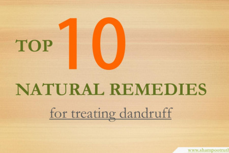 Top 10 Natural Remedies for Treating Dandruff Infographic