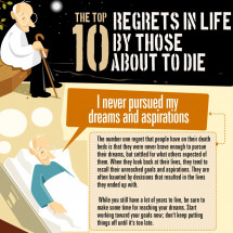Top 10 Regrets By Those About To Die Infographic