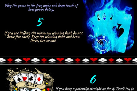Top 10 Tips for Beating Video Poker Games Infographic