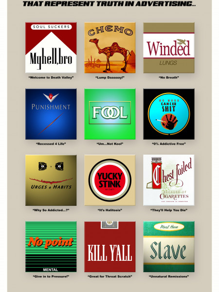 Top 12 Cigarette Logos that Represent Truth in Tobacco Advertising Infographic