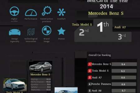 Top 1o Luxury Cars of The Year Infographic