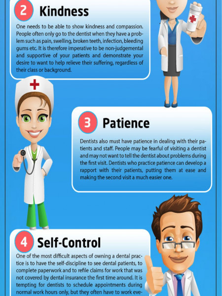 Top 5 Character Traits of Great Pediatric Dentists Infographic