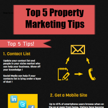 Top 5 Property Marketing Tips Infographic