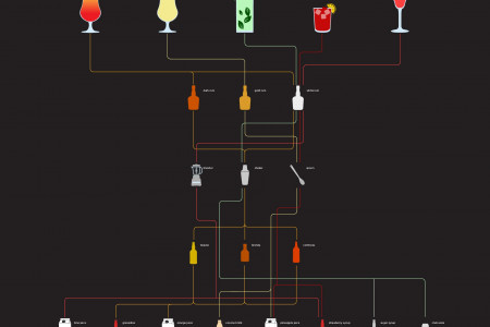 Top 5 Rum Drinks Infographic