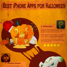 Top 7 Best iPhone Apps for Halloween Infographic