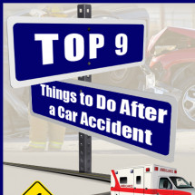 Top 9 Things to Do After a Car Accident Infographic