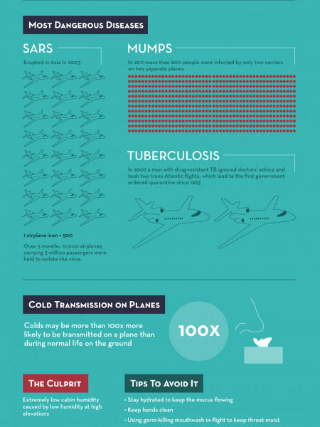 Top Diseases on a Plane Infographic