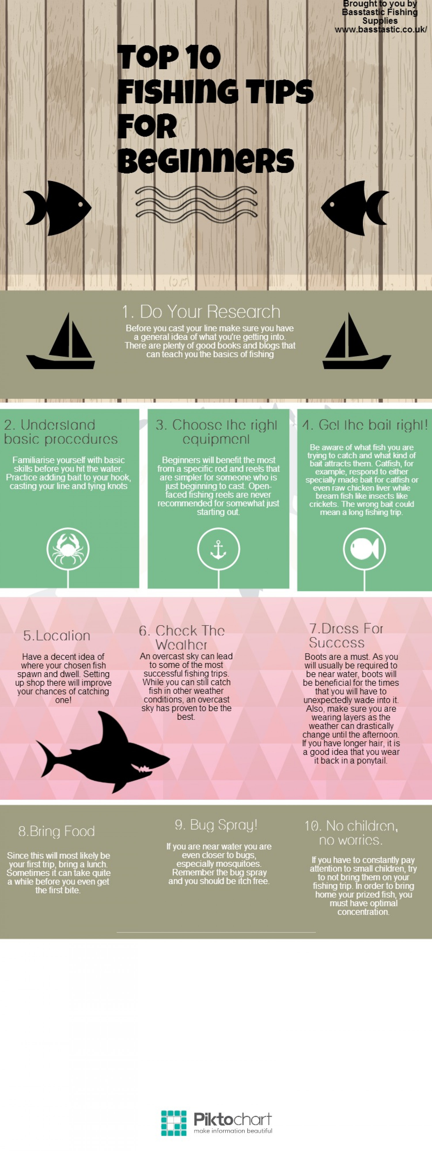 Top Fishing Tips For Beginners Infographic