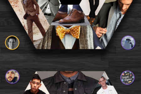 Top Male Fashion Pinners Infographic