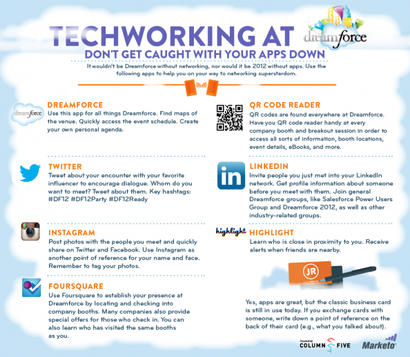 Top Networking Apps for Dreamforce '12 Infographic