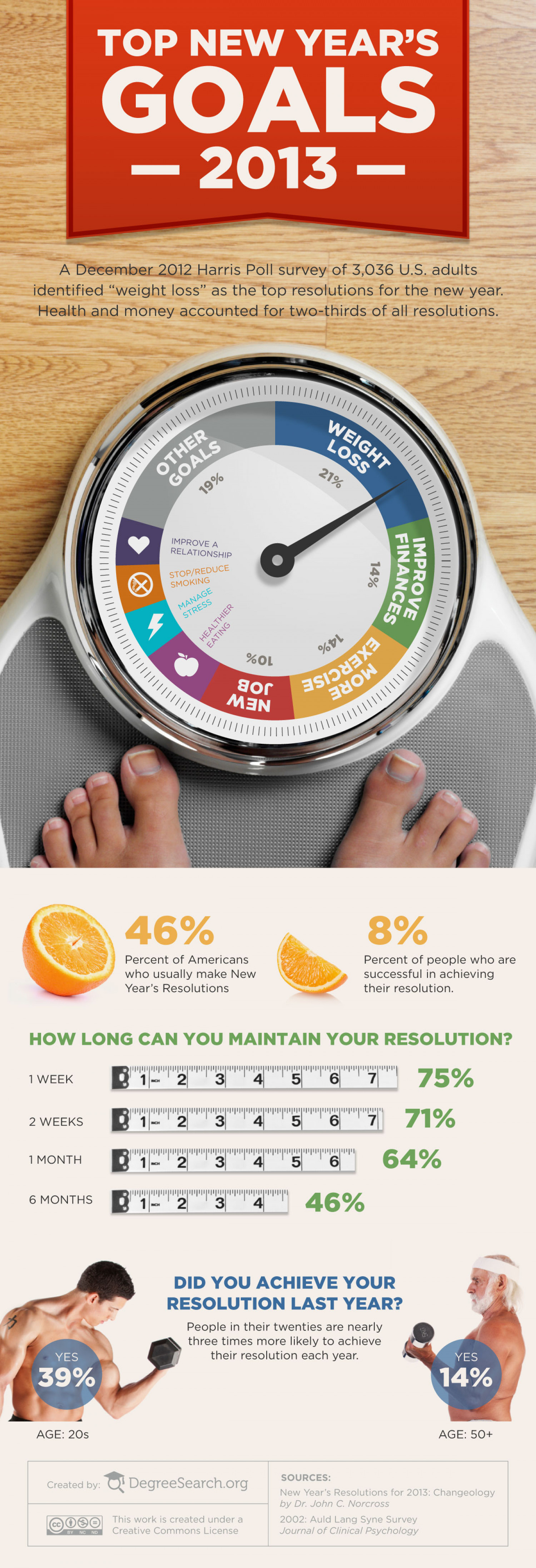 Top New Years Goals 2013 Infographic