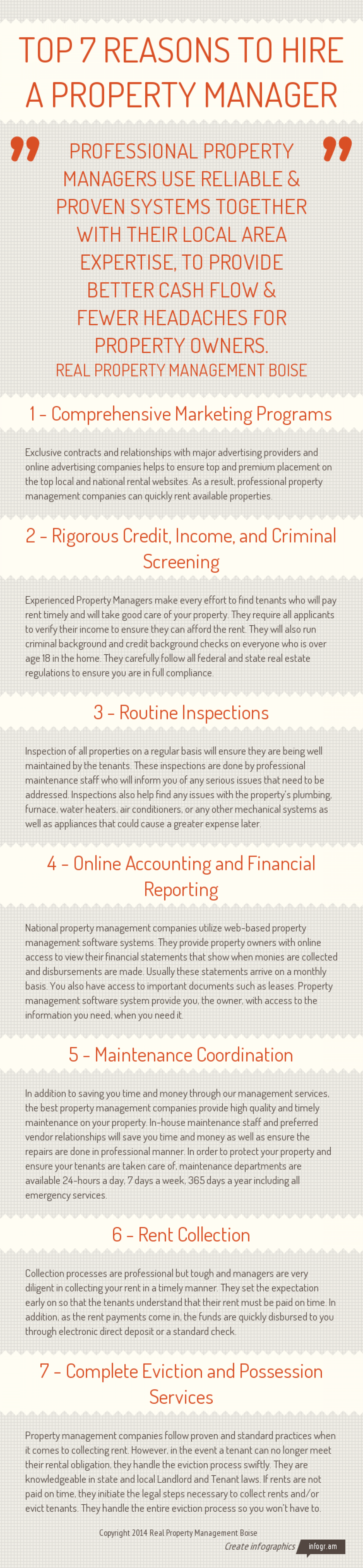 Top Reasons To Hire A Property Management Company Infographic
