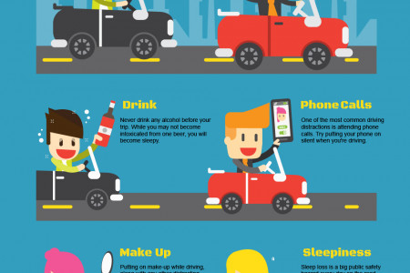 Top safe driving tips Infographic