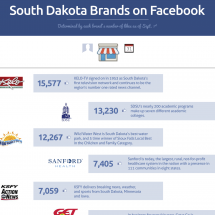 Top South Dakota Brands on Facebook Infographic