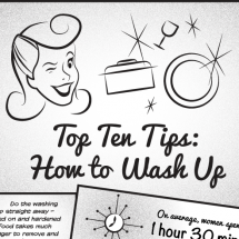 Top Ten Tips - How To Wash Up Infographic