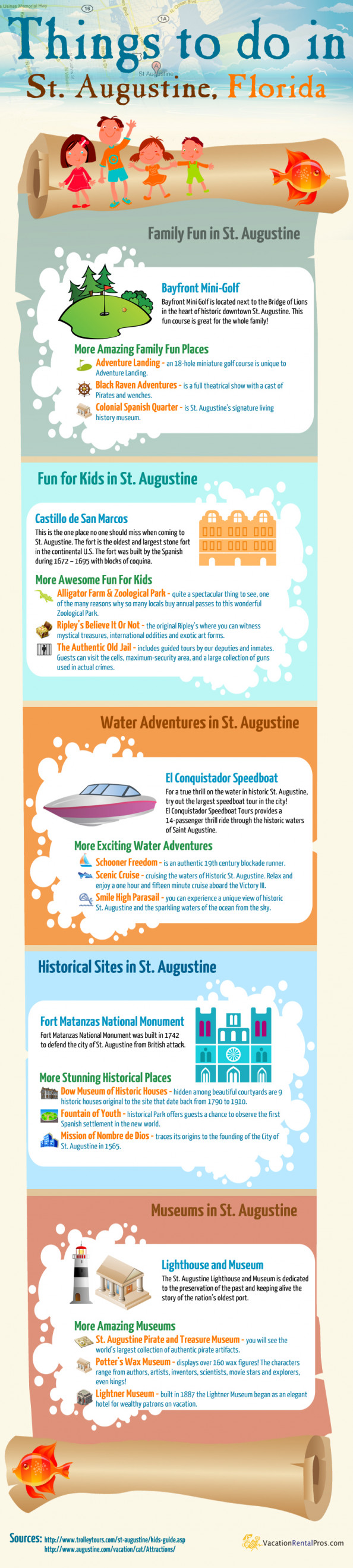 Top Things to do in St Augustine Infographic