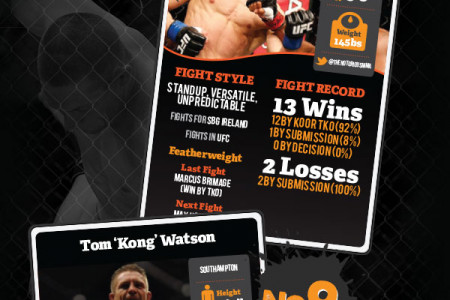Top UK/Irish MMA Stars Infographic