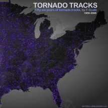 Tornado Tracks by F-Scale Infographic