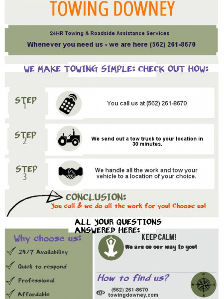 Towing Downey  Infographic